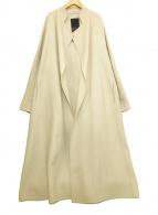 ()の古着「スーペリアノーカラーコート」 ベージュ