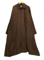 ()の古着「ステンカラーコート」 ブラウン