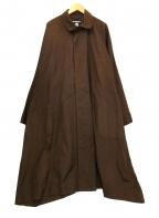 MONITALY(モニタリー)の古着「ステンカラーコート」|ブラウン