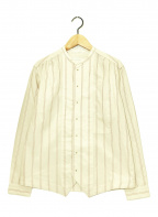 ASEEDONCLOUD(アシードンクラウド)の古着「ストライプバンドカラーシャツ」|アイボリー