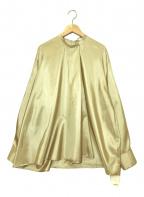 LOHEN(ローヘン)の古着「シルク調フロントタックブラウス」|ベージュ