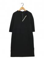 YOKO CHAN(ヨーコチャン)の古着「パール装飾ワンピース」|ブラック