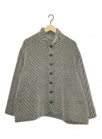 Y's(ワイズ)の古着「スタンドショートカラーコート」|ベージュ