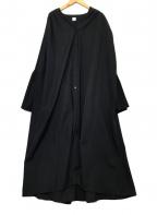 ELIN(エリン)の古着「フレアスリーブシャツワンピース」|ブラック