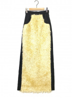 Tu es mon TRESOR(トゥ エ モン トレゾア)の古着「エコファーマキシスカート」|アイボリー×ネイビー