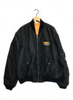 ()の古着「MA-1ジャケット」|ブラック