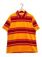 ()の古着「Stripe Velour Polo」|レッド×イエロー
