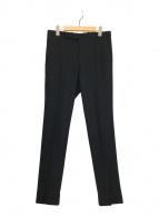 ()の古着「WOOL SERGE NARROW SLACKS」|ブラック