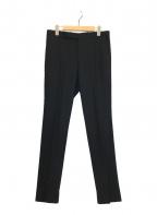 AURALEE(オーラリー)の古着「WOOL SERGE NARROW SLACKS」|ブラック