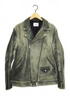 ()の古着「ダブルライダースジャケット」|グレー