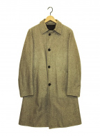 HERNO(ヘルノ)の古着「ヘリンボーンステンカラーコート」|ベージュ