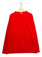 ()の古着「アナグラムロゴ刺繍ニット」 レッド