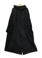 ()の古着「フーデッドモッズコート」 ブラック