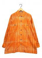 ISSEY MIYAKE MEN()の古着「総柄シャツ」 オレンジ