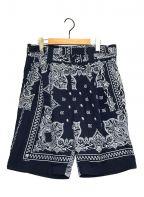 sacai()の古着「Bandana Printed Shorts」 ネイビー