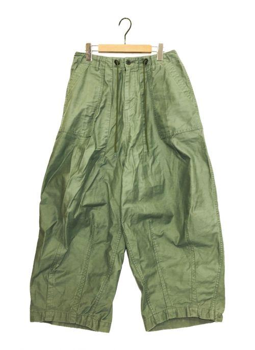 Needles(ニードルズ)Needles (ニードルズ) ファティーグヒザデルパンツ グリーン サイズ:2の古着・服飾アイテム