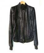 HAIDER ACKERMANN(ハイダー アッカーマン)の古着「コーティングレザーブルゾン」|ブラック