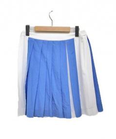 Aquascutum(アクアスキュータム)の古着「スカート」|ホワイト×ブルー