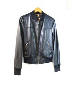 DOLCE & GABBANA(ドルチェ&ガッバーナ)の古着「シープレザー ジャケット」|ブラック