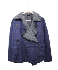 KAPITAL(キャピタル)の古着「トリプルPコート」 ネイビー×グレー