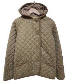 Traditional Weatherwear(トラディショナルウェザーウェア)の古着「フード付キルティングジャケット」|ベージュ