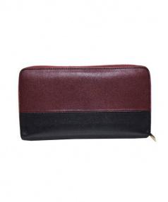 CELINE(セリーヌ)の古着「バイカラーラウンドファスナー財布」|ボルドー×ブラック