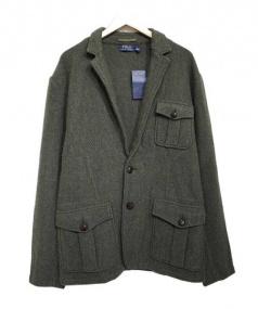 POLO RALPH LAUREN(ポロ・ラルフローレン)の古着「胡桃ボタンウールジャケット」|ブラウン