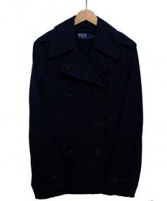POLO RALPH LAUREN(ポロ ラルフローレン)の古着「ハーフトレンチコート」|ネイビー