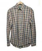 GITMAN BROS(ギットマンブラザーズ)の古着「チェックシャツ」 ブラウン