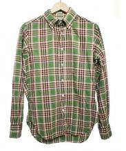 INDIVIDUALIZED SHIRTS(インディビジュアライズドシャツ)の古着「チェックBDシャツ」|グリーン