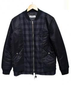 DISCOVERED(ディスカバード)の古着「SUIT LAYERED MA-1」|ブラック