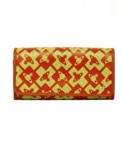 Vivienne Westwood(ヴィヴィアンウエストウッド)の古着「長財布」 オレンジ