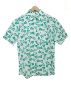 RHC×VOTE MAKE NEW CLOTHES(アールエイチシー×ヴォート メイク ニュー クローズ)の古着「総柄ロゴシャツ」|グリーン