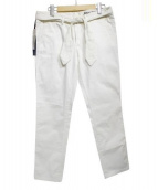 J.W.BRINE(ジェイダブリューブライン)の古着「ベルト付パンツ」 ホワイト