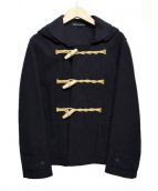 GLOVER ALL(グローバーオール)の古着「フーデッドダッフルコート」|ブラック