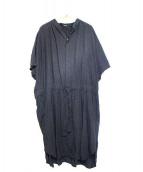 ZUCCA(ズッカ)の古着「ピンドットプリントドレス ワンピース」|ブラック