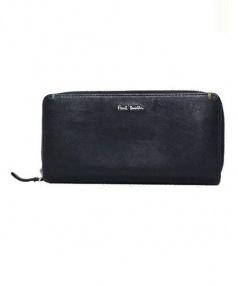 Paul Smith(ポールスミス)の古着「ラウンドファスナー財布 長財布」 ブラック