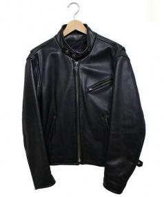 HARLEY-DAVIDSON(ハーレーダビットソン)の古着「シングルライダースジャケット レザー」|ブラック