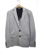 1piu1uguale3(ウノピゥウノウグァーレトレ)の古着「SWEAT DENIM NEW WAVE JK ジャケット」|ブルー