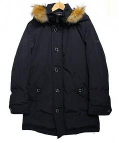 BLACK LABEL CRESTBRIDGE(ブラックレーベルクレストブリッジ)の古着「ファー付ダウンコート」|ブラック