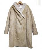 COLLAGE GALLARDAGALANTE(コラージュ ガリャルダガランテ)の古着「フェイクムートンコート」|ベージュ