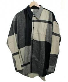 N.HOOLYWOOD(エヌハリウッド)の古着「アソートチェックビッグシャツ」|ブラック×ベージュ