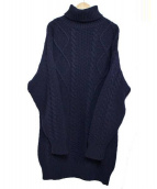 TOKYO DRESS(トウキョウドレス)の古着「タートルニットワンピース」|ネイビー
