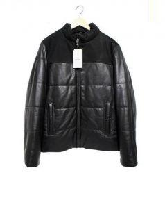 H&M EDITION(エイチアンドエムエディション)の古着「レザー切替ジャケット」|ブラック