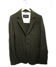 COMME des GARCONS HOMME DEUX(コムデギャルソンオムドゥ)の古着「縮絨ジャケット」|グリーン