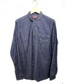 LEVIS×eYe COMME des GARCONS JUNYA WATANABE MAN(リーバイス×アイコムデギャルソンジュンヤワタナベマン)の古着「ダンガリーラウンドカラーシャツ」|ブルー