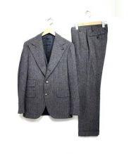 GABRIELE PASINI(ガブリエレパジーニ)の古着「ヘリンボーン3Pセットアップスーツ」|グレー