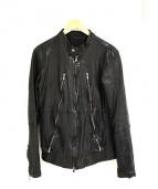 AMERICAN RAG CIE(アメリカンラグシー)の古着「八の字レザージャケット ライダース」|ブラック