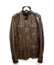 DIESEL(ディーゼル)の古着「レザージャケット」|ブラウン