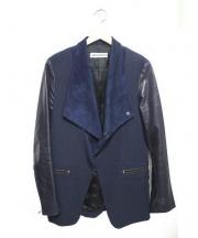 UMIT BENAN(ウミットベナン)の古着「切替ライダースジャケット」 ネイビー